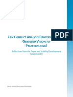 Can Conflict Analysis Processes Support Gendered Visions of Peacebuilding - Reflections From the Peace and Stability Development Analysis in Fiji - July 2011