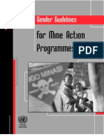 Gender Guidelines for Mine Action Programmes - July 2011