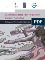 Making Disaster Risk Reduction Gender-Sensitive Policy and Practical Guidelines