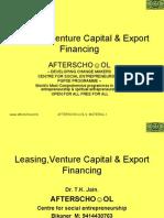 Leasing,Venture Capital & Export Financing  8 November