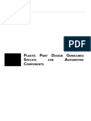 Plastic Design Guidelines for Automotive Components | Casting