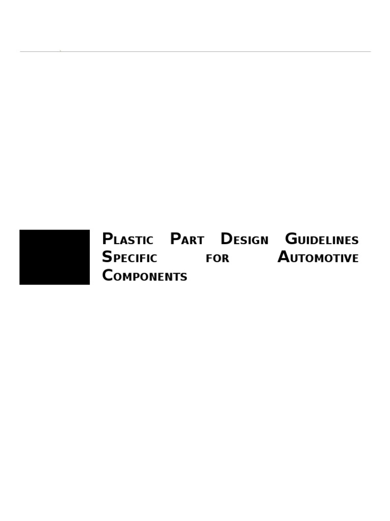 Plastic Design Guidelines For Automotive Components Casting Metalworking Wall