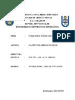 Informe Final Titulación