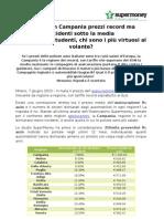 Rc auto, in Campania prezzi record ma incidenti sotto la media