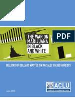 ACLU Racial Marijuana Report