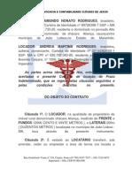 CONTRATO DE LOCAÇÃO DE TERRA COLORIDO 50 REAIS
