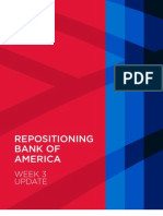 Category Work Report, Bank of America Repositioning, Week 3 Update, April 2013