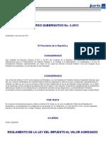 Reglamento Iva Acuerdo Gubernativo 5 2013 New