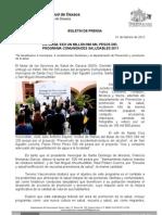 01/02/12 Germán Tenorio Vasconcelos entregan Sso Recursos Del Programa Comunidades Saludables