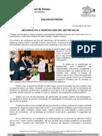 08/02/12 Germán Tenorio Vasconcelos reconoce Gtv a Odontólogos Del Sector Salud