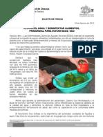 16/02/12 Germán Tenorio Vasconcelos clorar El Agua y Desinfectar Los Alimentos, Primordial Para Evitar Edas