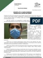 18/02/12 Germán Tenorio Vasconcelos Exhorta GTV a Cumplir Medidas Preventivas Contra Influenza