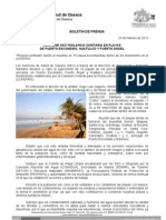 23/02/12 Germán Tenorio Vasconcelos mantiene Sso Vigilancia Sanitaria en Playas de Puerto Escondido, Huatulco Y_0