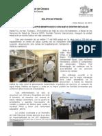 29/02/12 Germán Tenorio Vasconcelos MÁS DE 5,000 HABITANTES BENEFICIADOS CON NUEVO CENTRO DE SALUD