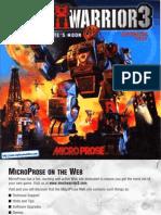 MechWarrior 3 - Pirates Moon - Manual - PC