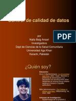 CONTROL DE CALIDAD DE DATOS
