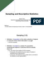 Sampling and Descriptive Statics