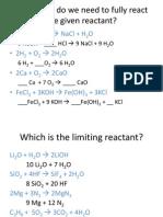 limiting rxnt