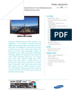 Samsung Ln46b650 Spec Sheet