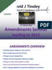 17th Edition 2011 Amendments