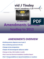 17th Edition 2011 Amendments