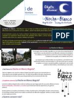 Convocatoria artistas La Noche en Blanco Bogotá