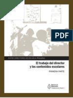 6 El Trabajo Del Director y Los Contenidos Escolares. Primera Parte