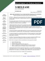 News release on Minnesota drug recognition program