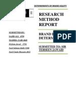 Research Method Report
