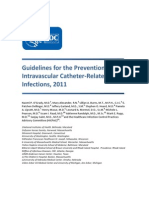 CDC Guidline Prevent Cath Infections