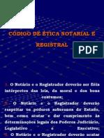 CÓDIGO DE ÉTICA  NOTARIAL E REGISTRAL - SEM ANIMAÇÃO