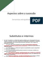 Serventias extrajudiciais - aspectos sobre a sucessão - João Baptista de Mello e Souza
