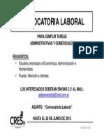 2013-6 Convocatoria de Benedetto