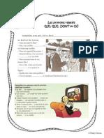 Microsoft Word - Exercices - Les pronoms relatifs - Pronoms relatifs et cinéma