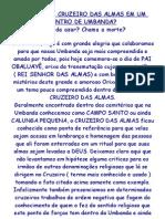 (2) O QUE É UM CRUZEIRO DAS ALMAS EM UM CENTRO DE UMBANDA