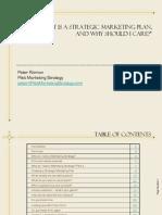 Peter Risman Whitepaper - What is a Strategic Marketing Plan?