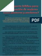 3. CG--+Hay Soporte Biblico Para Ordenar Mujeres-+ Parte 1 por Claudio Popa