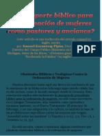 5. CG--+Hay Soporte Biblico Para Ordenar Mujeres-+ Parte 3 por Claudio Popa