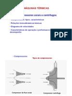 Compressores centrífugos e axiais