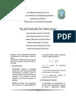 1º Informe de Lab. de Física II - Elasticidad de una Liga