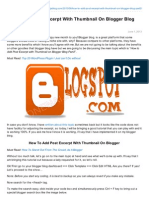 How to Add Post Excerpt With Thumbnail on Blogger Blog Part2