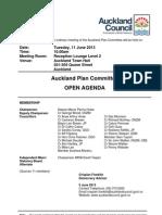 Auckland Plan Committee June 2013