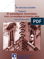 Cordero Ulate, Allen - El paradigma inconcluso - Kuhn y la sociología en América Latina [pdf]