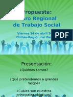 Propuesta Foro Regional Trabajo Social de la región del Bío Bío
