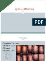 Diagnosis banding varicella
