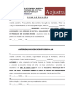 12 - Fichas de filiação e de dados cadastrais da Aojustra