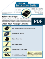 D-Link DWL-G730AP Quick Start Guide