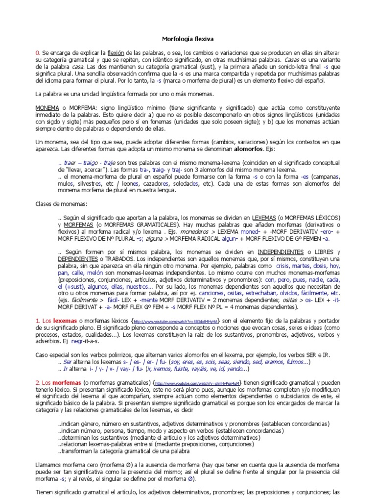 Morfologia Flexiva Y Lexica