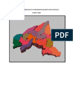 Peta Prisma Kepadatan Penduduk Kabupaten Sleman
