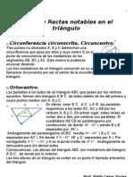 Puntos y rectas notables en el triángulo (teórico)